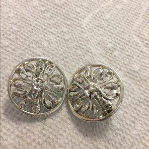 Mirabella round clip earrings